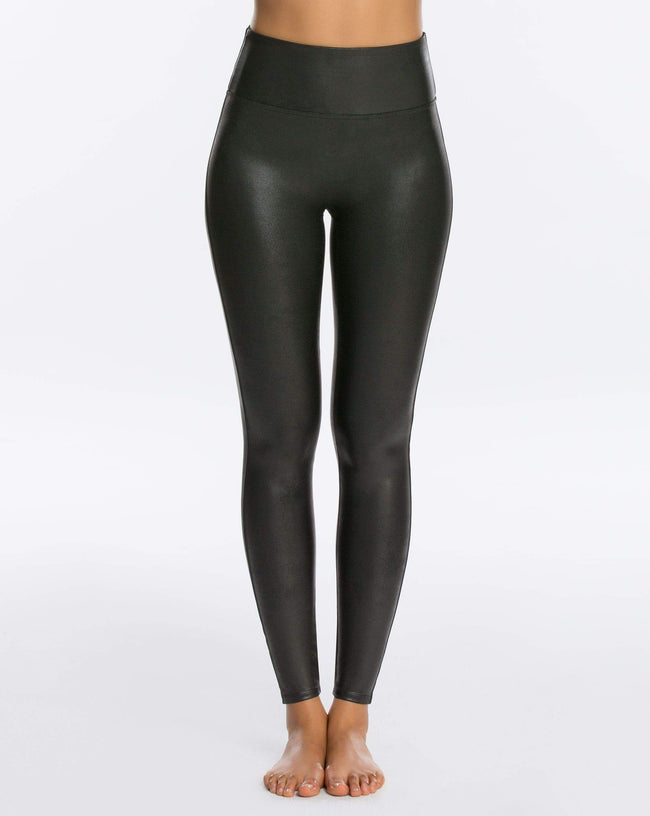 Spanx Faux Leather Leggings - Front View