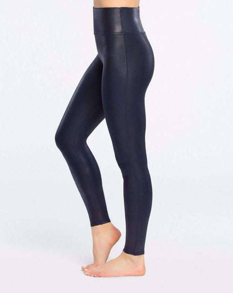 Spanx Faux Leather Leggings Night - Front View