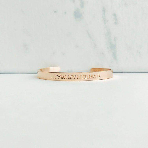Rose Gold Quote Cuffs