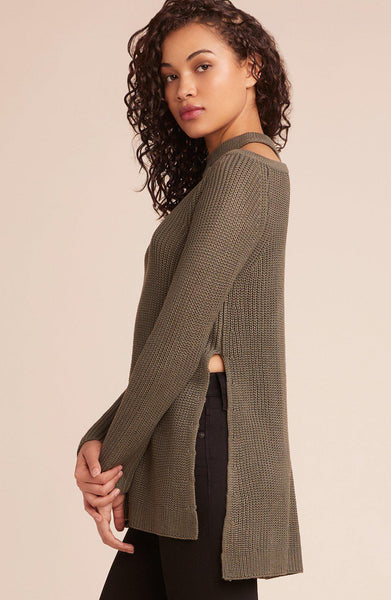 Dusk Til Dawn Cut Out Sweater- Olive
