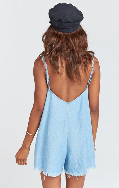 Rascal Romper - Light Chambray