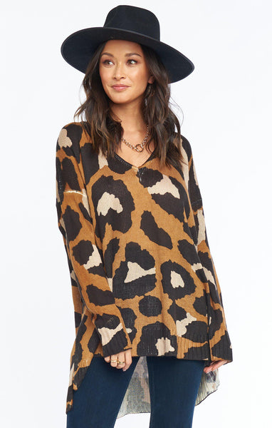 Hug Me Sweater - Cognac Wildcat