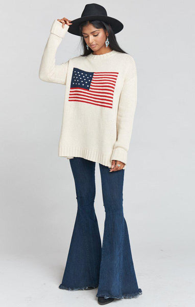Fireside Sweater - American Flag