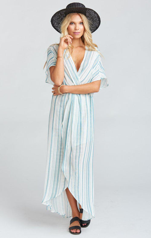 Get Twisted Maxi Dress - Point Dume Stripe