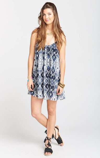 Show Me Your Mumu Trapeze Mini Dress - Rattle Rock