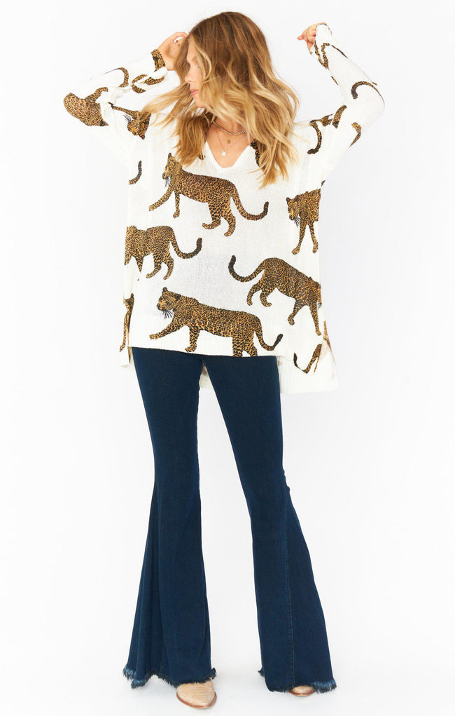 Hug Me Sweater - Tossed Leopard
