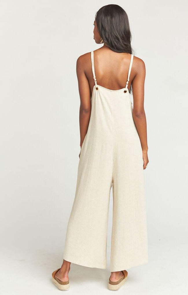 Jansen Jumpsuit Cream Linen