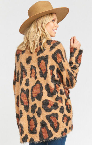 Fatima Turtleneck Sweater Cheetah Fever