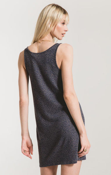 The Mini Leopard Dress - Charcoal