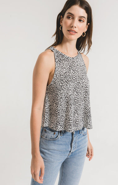 The Mini Leopard Swing Tank - Off White