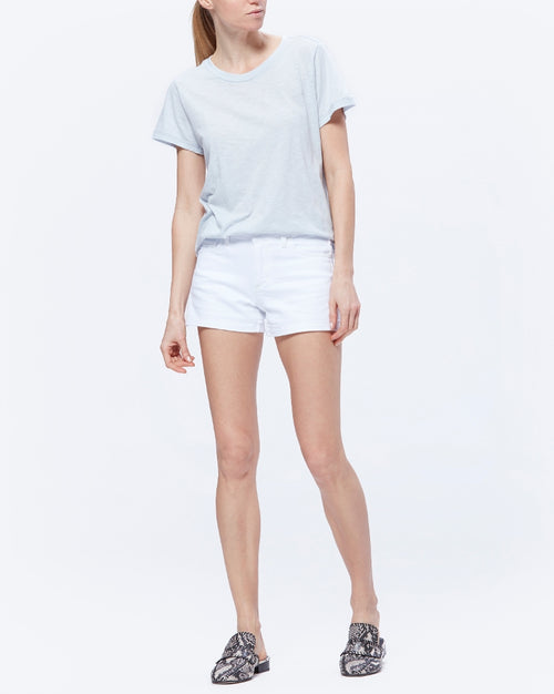 Jimmy Jimmy Raw Hem Cuff Crisp White