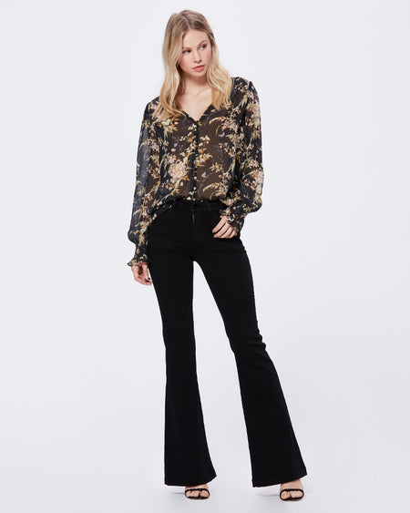 Sequin Arrangements Gold Tie Back Sweater