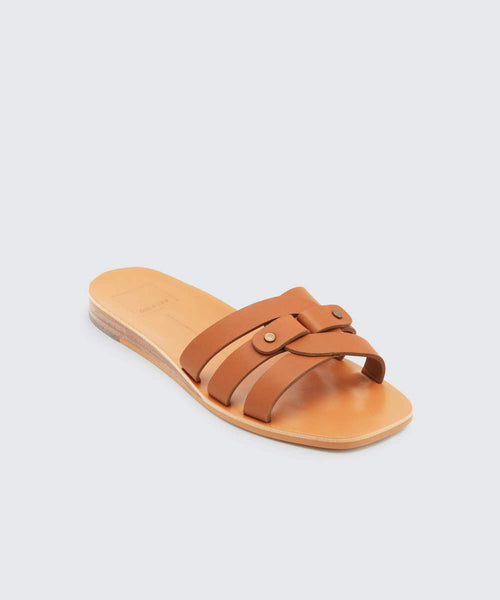 Cait Sandal Tan Leather