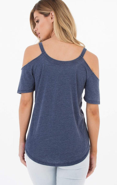 The Cold Shoulder Tee - Black Iris
