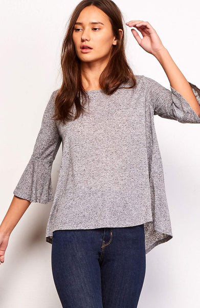 Delle Heather Grey Top