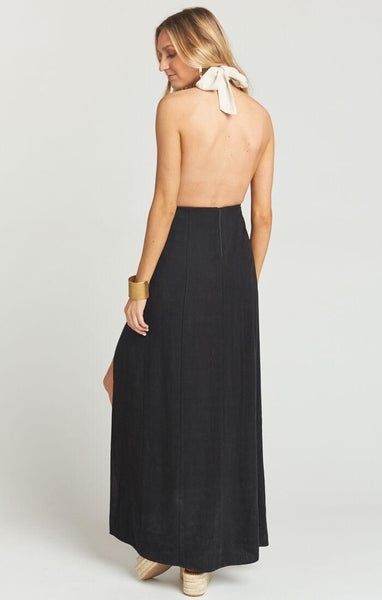 Millie Domino Colorblock Maxi Dress