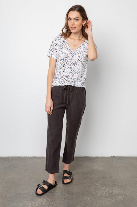 Brewster Top - Speckle Dots Pink