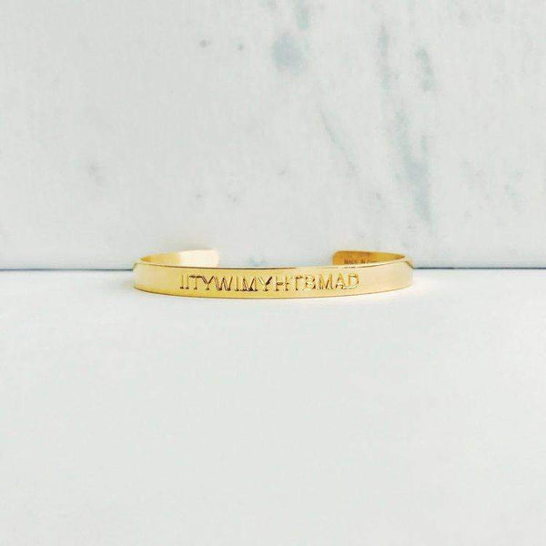 Gold Quote Cuffs