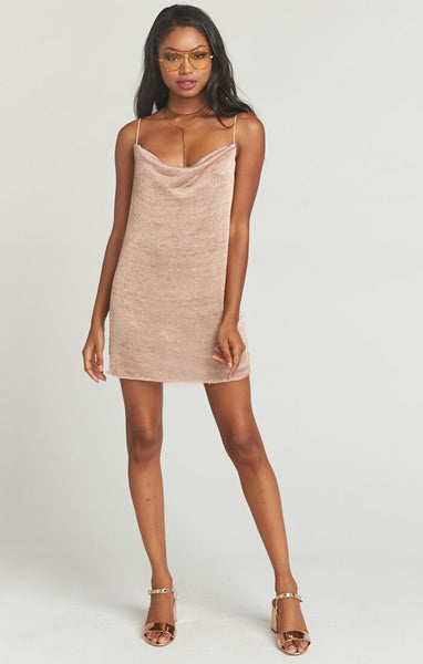 Kaia Slip Dress Rose Gold