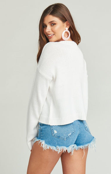 Cropped Varsity Vacay Graphic Sweater