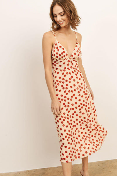 Floral Printed Maxi Red