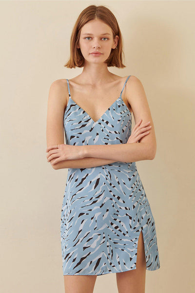 Blue Zebra Dress