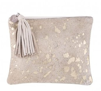 Vash Jem Gold Clutch - Front View