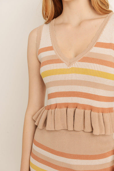 Stripe Pattern Tank Top
