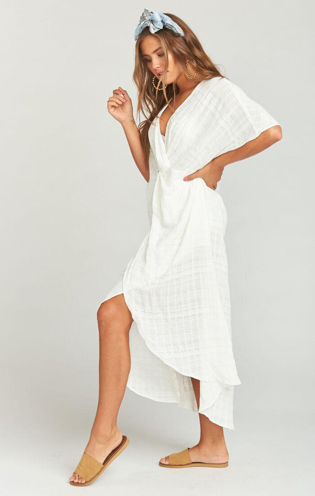 Get Twisted Maxi Dress Sand Dollar Gauze