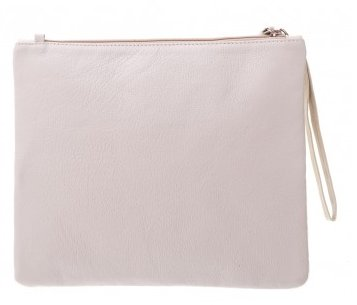 Vash Lee Cream + Bone Clutch - Back View