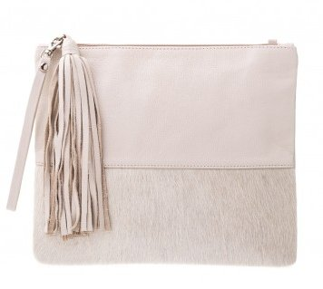 Vash Lee Cream + Bone Clutch - Front View