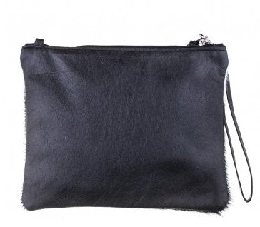 Vash Mickey Black + White Clutch - Back View