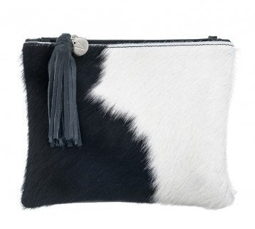 Vash Mickey Black + White Clutch - Front
