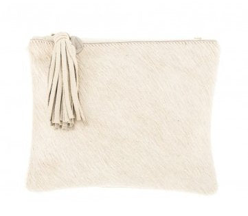 Vash Mickey Cream Clutch - Front View