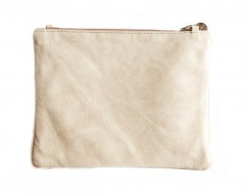 Vash Mikcey Cream + Beige Clutch - Back View