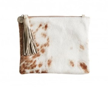 Vash Mikcey Cream + Beige Clutch - Front View