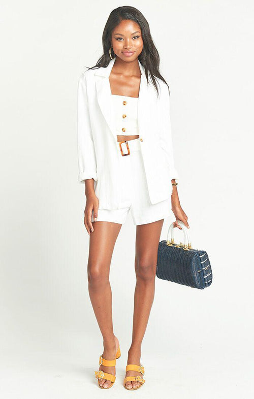 Percy Shorts White Linen