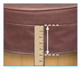 example guide of how to measure the spa cover skirt with a ruler