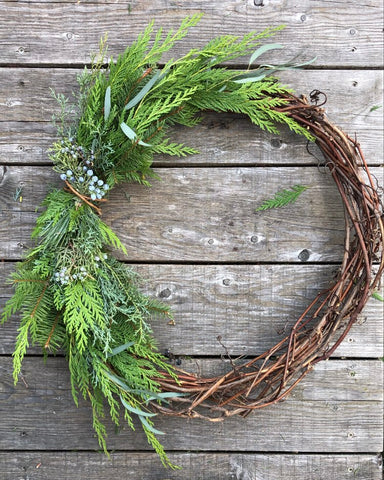 Winter Grapevine Wreath - no.1