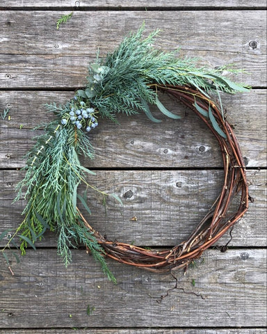 Winter Grapevine Wreath - no.2