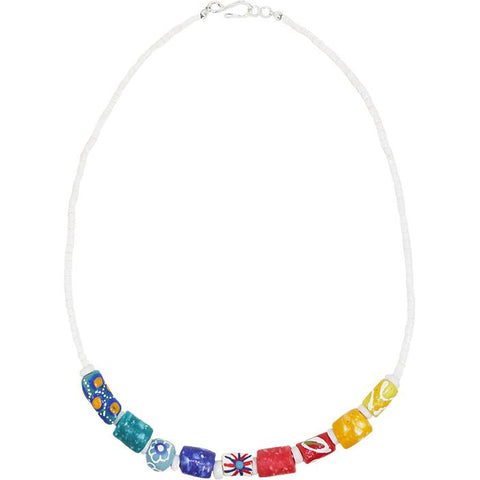 Marble Necklace Rainbow