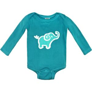 Organic Long Sleeve Elephant Onesie