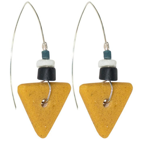 Fast Forward Earrings Mustard