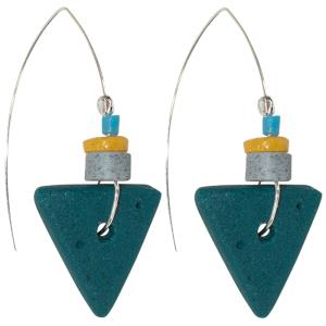 Fast Forward Earrings Teal