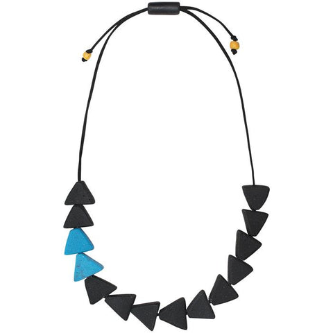 Fast Forward Necklace Black