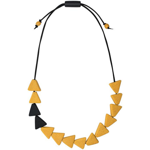 Fast Forward Necklace Mustard