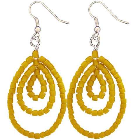 Mustard Sankofa Earrings