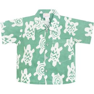 Button Down Shirt Sage Turtles