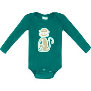Organic Long Sleeve Monkey Onesie