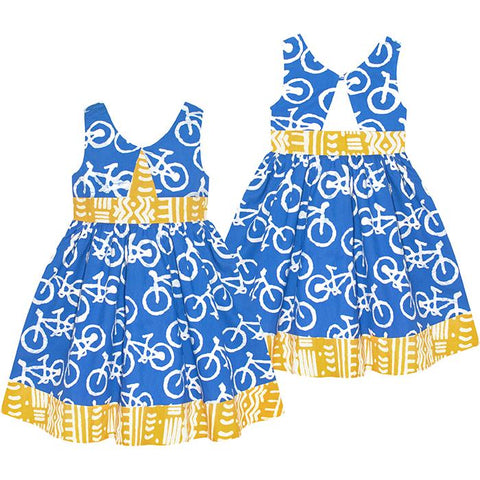 Twirl Dress Blue Bikes